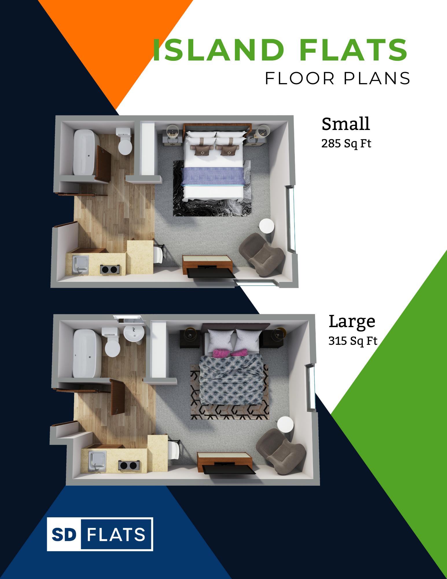 Island Flats Floor Plans